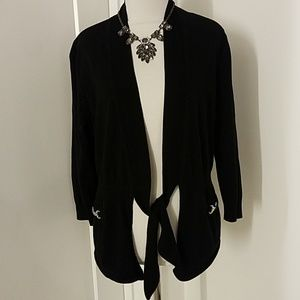 WHBM Tie front Cardigan with Metal buckle details